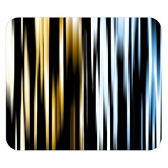 Digitally Created Striped Abstract Background Texture Double Sided Flano Blanket (Small)
