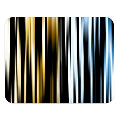 Digitally Created Striped Abstract Background Texture Double Sided Flano Blanket (Large)