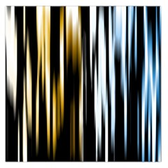 Digitally Created Striped Abstract Background Texture Large Satin Scarf (Square)