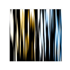 Digitally Created Striped Abstract Background Texture Small Satin Scarf (Square)