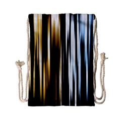 Digitally Created Striped Abstract Background Texture Drawstring Bag (Small)