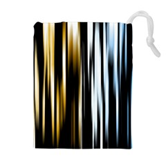 Digitally Created Striped Abstract Background Texture Drawstring Pouches (Extra Large)