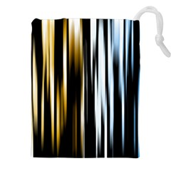 Digitally Created Striped Abstract Background Texture Drawstring Pouches (XXL)