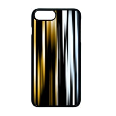Digitally Created Striped Abstract Background Texture Apple iPhone 7 Plus Seamless Case (Black)