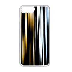 Digitally Created Striped Abstract Background Texture Apple iPhone 7 Plus White Seamless Case