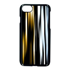 Digitally Created Striped Abstract Background Texture Apple iPhone 7 Seamless Case (Black)