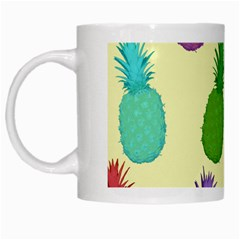 Colorful Pineapples Wallpaper Background White Mugs by Simbadda