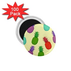 Colorful Pineapples Wallpaper Background 1 75  Magnets (100 Pack)