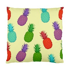 Colorful Pineapples Wallpaper Background Standard Cushion Case (two Sides)
