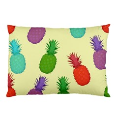 Colorful Pineapples Wallpaper Background Pillow Case