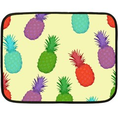 Colorful Pineapples Wallpaper Background Fleece Blanket (mini)