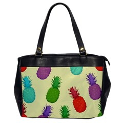 Colorful Pineapples Wallpaper Background Office Handbags