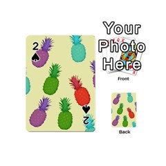 Colorful Pineapples Wallpaper Background Playing Cards 54 (mini)  by Simbadda