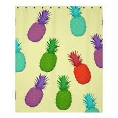 Colorful Pineapples Wallpaper Background Shower Curtain 60  X 72  (medium)  by Simbadda