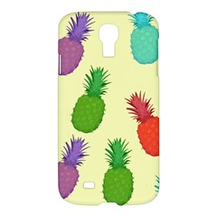 Colorful Pineapples Wallpaper Background Samsung Galaxy S4 I9500/i9505 Hardshell Case by Simbadda