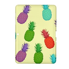 Colorful Pineapples Wallpaper Background Samsung Galaxy Tab 2 (10 1 ) P5100 Hardshell Case  by Simbadda
