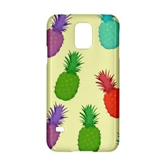 Colorful Pineapples Wallpaper Background Samsung Galaxy S5 Hardshell Case  by Simbadda
