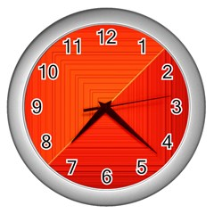 Abstract Clutter Baffled Field Wall Clocks (silver)