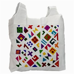 A Colorful Modern Illustration For Lovers Recycle Bag (one Side)