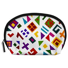 A Colorful Modern Illustration For Lovers Accessory Pouches (large)  by Simbadda
