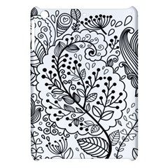 Black Abstract Floral Background Apple Ipad Mini Hardshell Case by Simbadda