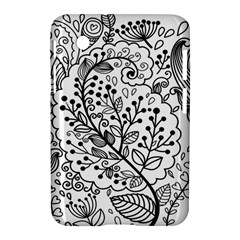 Black Abstract Floral Background Samsung Galaxy Tab 2 (7 ) P3100 Hardshell Case  by Simbadda