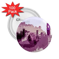 Abstract Painting Edinburgh Capital Of Scotland 2 25  Buttons (100 Pack)  by Simbadda