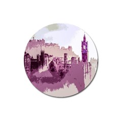Abstract Painting Edinburgh Capital Of Scotland Magnet 3  (round)
