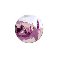 Abstract Painting Edinburgh Capital Of Scotland Golf Ball Marker (10 Pack) by Simbadda