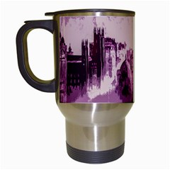 Abstract Painting Edinburgh Capital Of Scotland Travel Mugs (white) by Simbadda
