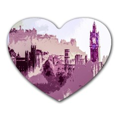 Abstract Painting Edinburgh Capital Of Scotland Heart Mousepads