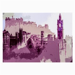 Abstract Painting Edinburgh Capital Of Scotland Large Glasses Cloth (2 Side) by Simbadda
