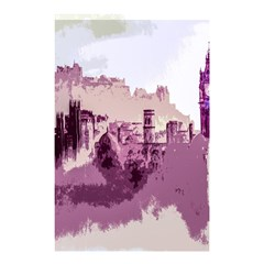 Abstract Painting Edinburgh Capital Of Scotland Shower Curtain 48  X 72  (small)
