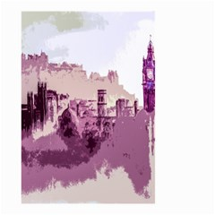 Abstract Painting Edinburgh Capital Of Scotland Small Garden Flag (two Sides) by Simbadda