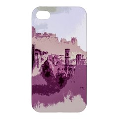 Abstract Painting Edinburgh Capital Of Scotland Apple Iphone 4/4s Premium Hardshell Case by Simbadda
