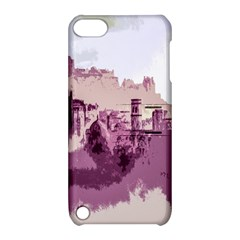 Abstract Painting Edinburgh Capital Of Scotland Apple Ipod Touch 5 Hardshell Case With Stand by Simbadda
