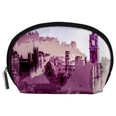 Abstract Painting Edinburgh Capital Of Scotland Accessory Pouches (large)  by Simbadda