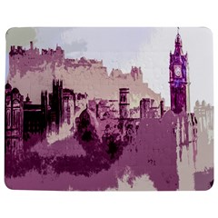 Abstract Painting Edinburgh Capital Of Scotland Jigsaw Puzzle Photo Stand (rectangular) by Simbadda