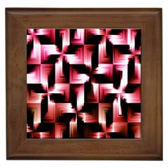 Red And Pink Abstract Background Framed Tiles by Simbadda