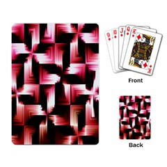 Red And Pink Abstract Background Playing Card by Simbadda
