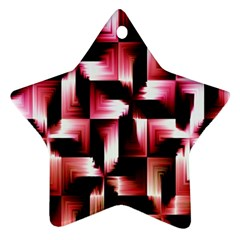 Red And Pink Abstract Background Star Ornament (two Sides) by Simbadda