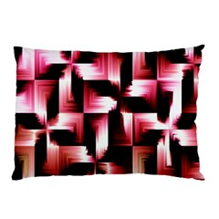 Red And Pink Abstract Background Pillow Case by Simbadda