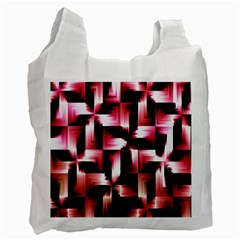 Red And Pink Abstract Background Recycle Bag (one Side) by Simbadda