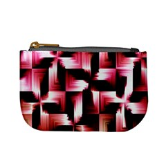 Red And Pink Abstract Background Mini Coin Purses by Simbadda