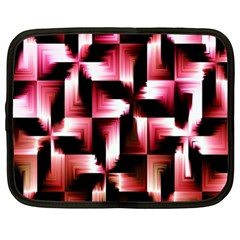 Red And Pink Abstract Background Netbook Case (xl)