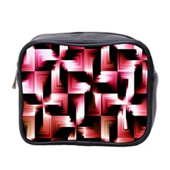 Red And Pink Abstract Background Mini Toiletries Bag 2 Side