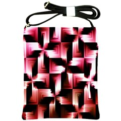 Red And Pink Abstract Background Shoulder Sling Bags by Simbadda