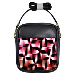 Red And Pink Abstract Background Girls Sling Bags by Simbadda