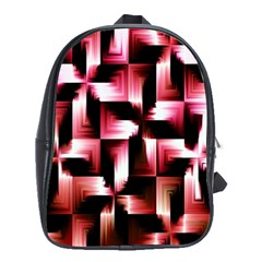 Red And Pink Abstract Background School Bags (xl)  by Simbadda