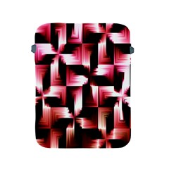 Red And Pink Abstract Background Apple Ipad 2/3/4 Protective Soft Cases by Simbadda